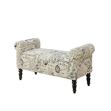 Monarch French Fabric Design Bench