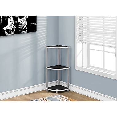 Monarch Reversible Accent Table, Black Or White (I 3138)