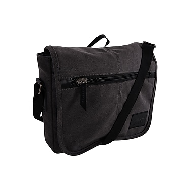 Roots 73 (RTS3440) Canvas Tablet Messenger Bag, Grey