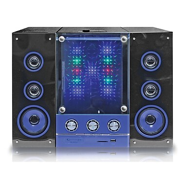 Technical Pro Powered Bluetooth Loudspeaker, Black/Blue, Refurbished (BLUET50 )