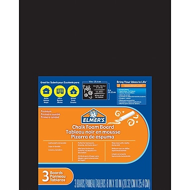 Elmer'sMD – Tableau en mousse, 8 x 10 po, noir, 3/paquet