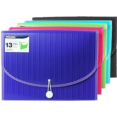 Winnable® 13 Pocket Expanding Poly File