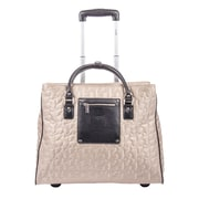 "Bugatti Evreux 17"" Ladies Rolling Quilted Computer Tote Bag, Beige"