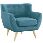 Madison Home USA Mid Century Modern Tufted Fabric Club Chair; Blue