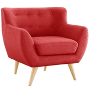 Madison Home USA Mid Century Modern Tufted Fabric Club Chair; Red