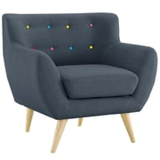 Madison Home USA Mid Century Modern Tufted Fabric Club Chair; Polo Blue