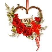 National Tree Co. Rose Heart Decor