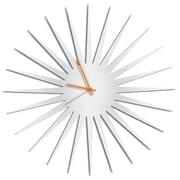 Metal Art Studio 23'' MCM Starburst by Adam Schwoeppe Wall Clock; Orange