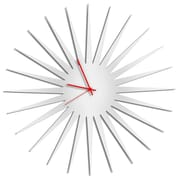 Metal Art Studio 23'' MCM Starburst by Adam Schwoeppe Wall Clock; Red