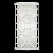 Fine Art Lamps Black + White Story 1-Light Wall Sconce; Studio White Satin