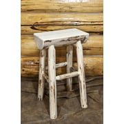 Montana Woodworks  30'' Bar Stool; Clear Lacquer Finish
