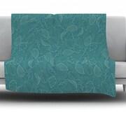 KESS InHouse Autumn Leaves by Emma Frances Fleece Throw Blanket; 60'' H x 50'' W