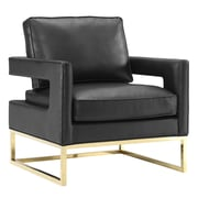 TOV Avery Arm Chair; Black
