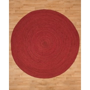 Natural Area Rugs Brussels Jute Hand Woven Natural Area Rug; Round 6'