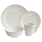 American Atelier 16-Piece Bianca Round Dinnerware Set in White