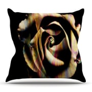 KESS InHouse Rose Swirl by Ingrid Beddoes Outdoor Throw Pillow