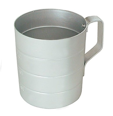 Update International Aluminum Dry Measuring Cup; 3.75'' H x 3.81'' W x 3.81'' D WYF078278712252