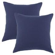 Brite Ideas Living Duck Cotton Pillow in Navy (Set of 2)