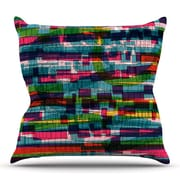 KESS InHouse Squares Traffic by Frederic Levy-Hadida Outdoor Throw Pillow; Pastel