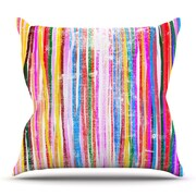 KESS InHouse Fancy Stripes by Frederic Levy-Hadida Outdoor Throw Pillow; Pastel