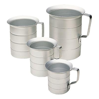 Update International Aluminum Liquid Measuring Cup; 4'' H x 4.38'' W x 4.38'' D WYF078278712697