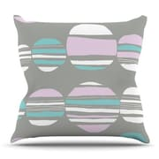 KESS InHouse Retro Circles by Emine Ortega Outdoor Throw Pillow; Pastel
