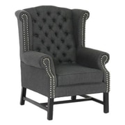 Wholesale Interiors Baxton Arm Chair in Grey