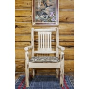 Montana Woodworks  Montana Captain's Arm Chair; Clear Lacquer Finish