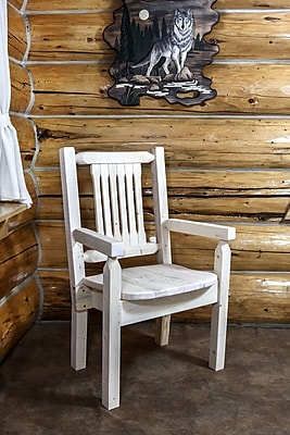 Montana Woodworks Homestead Captain's Arm Chair; Ready to Finish WYF078278714295