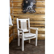 Montana Woodworks  Homestead Captain's Arm Chair; Clear Lacquer Finish