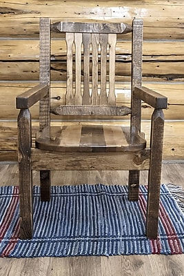 Montana Woodworks Homestead Captain's Arm Chair; Stain & Lacquer Finish WYF078278714296
