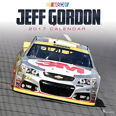 TF Publishing – Calendrier mural 2017, Jeff Gordon, 12 x 12 po
