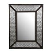 Privilege Wood/Metal Mirror; Nickel
