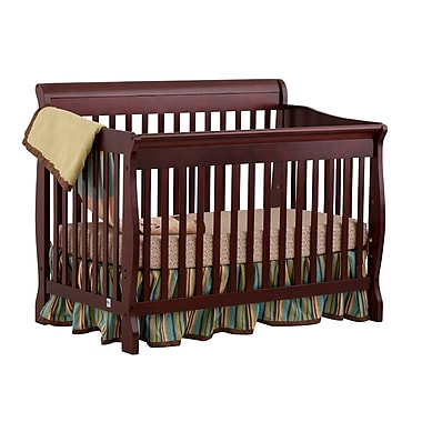 Stork Craft Modena Fix Side Convertible Crib, Cherry, (AD904587-454)