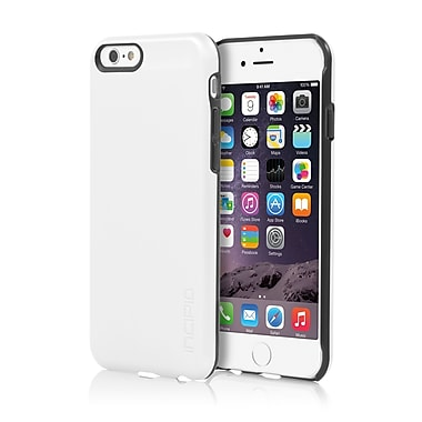 Incipio - Étui Feather Shine ultra-mince à enclenchement au fini aluminium brossé pour iPhone 6 - blanc, (IPH1178WHT)