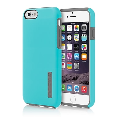 Incipio DualPro Hard-Shell Case with Impact- Absorbing Core for iPhone 6, Cyan/Charcoal, (IPH1179BLUGRY)