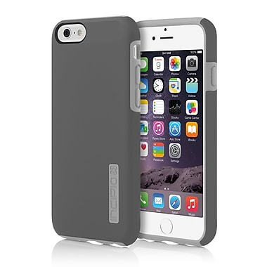 Incipio DualPro Hard-Shell Case with Impact- Absorbing Core for iPhone 6, Dark Gray/Light Gray, (IPH1179GRY)