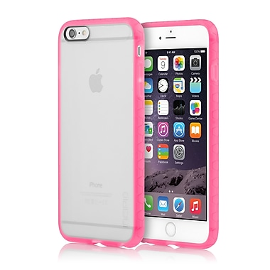 Incipio Octane Co-Molded Impact Absorbing Case for iPhone 6 Plus, Frost/Neon Pink, (IPH1216FRSTPNK)
