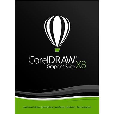 CorelDRAW – Logiciel de conception graphique Graphics Suite X8 pour Windows (1 utilisateur) (téléchargement)