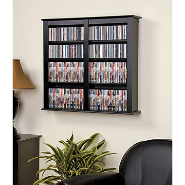 Prepac™ Double Wall Mounted Storage, Black