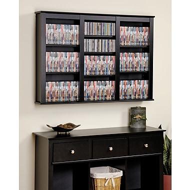 Prepac™ Triple Wall Mounted Storage, Black