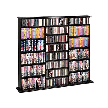Prepac™ Triple Width Wall Storage, Black