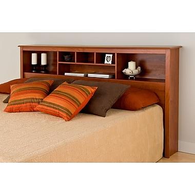 PrepacMC – Tête de lit bibliothèque pour un très grand lit, 81 1/2 po, cerise