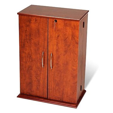 Prepac™ Locking Media Storage Cabinet, Cherry and Black