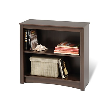 Prepac™ 2 Shelf Bookcase, Espresso