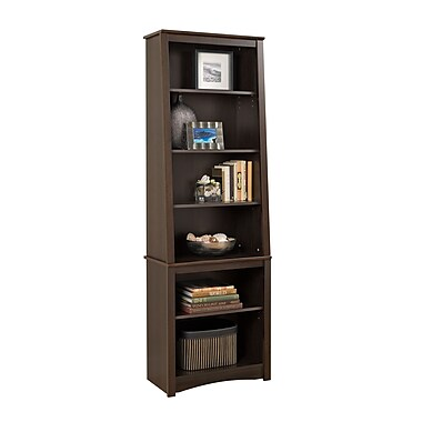 Prepac™ Tall Slant Back Bookcase, Espresso