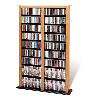 Prepac™ Double Width Barrister Tower, Oak and Black
