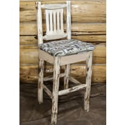 Montana Woodworks  Montana 30'' Bar Stool; Clear Lacquer Finish