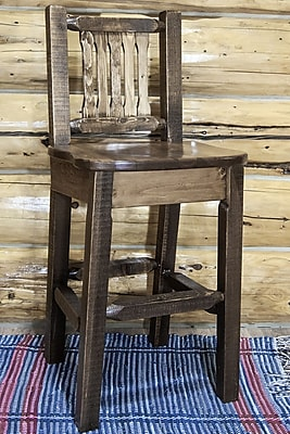 Montana Woodworks Homestead 30'' Bar Stool; Stain & Lacquer Finish WYF078278733779
