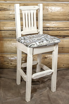 Montana Woodworks Homestead 30'' Bar Stool; Ready to Finish WYF078278733781
